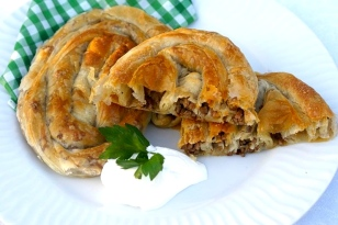 5. Byrek (Meat-filled Pastry) from Serbia