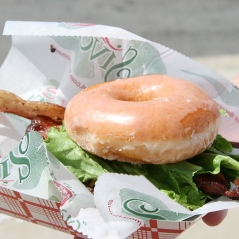 We'd only read about burgers served on glazed donuts. We thought it was urban myth!