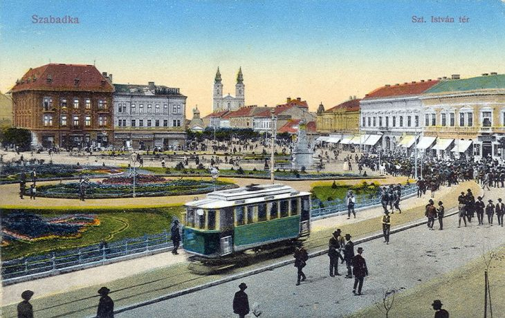 Postcard of Subotica's Tram System 1914