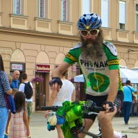 The hippie cyclist.