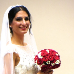 The bride turned and gave us a special smile!