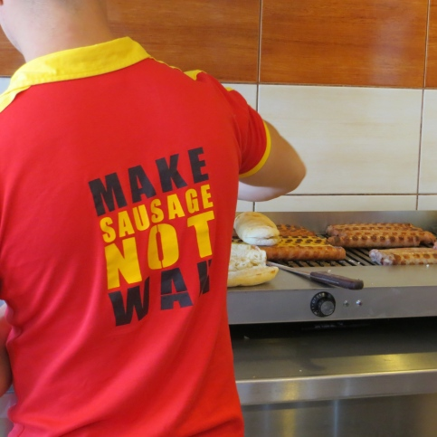 Make sausage not war