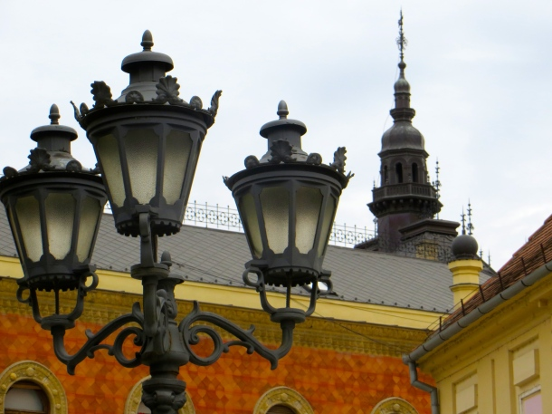 Street Lamp by Cathedral