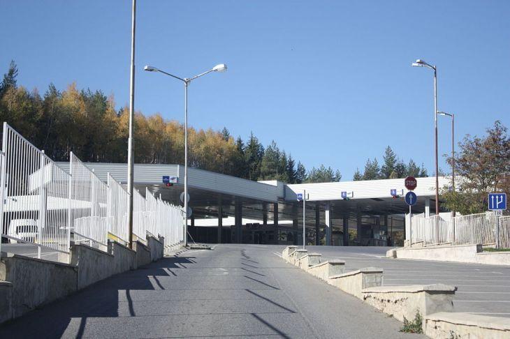Border Check-point Gyueshevo between Bulgaria and Macedonia FYRO