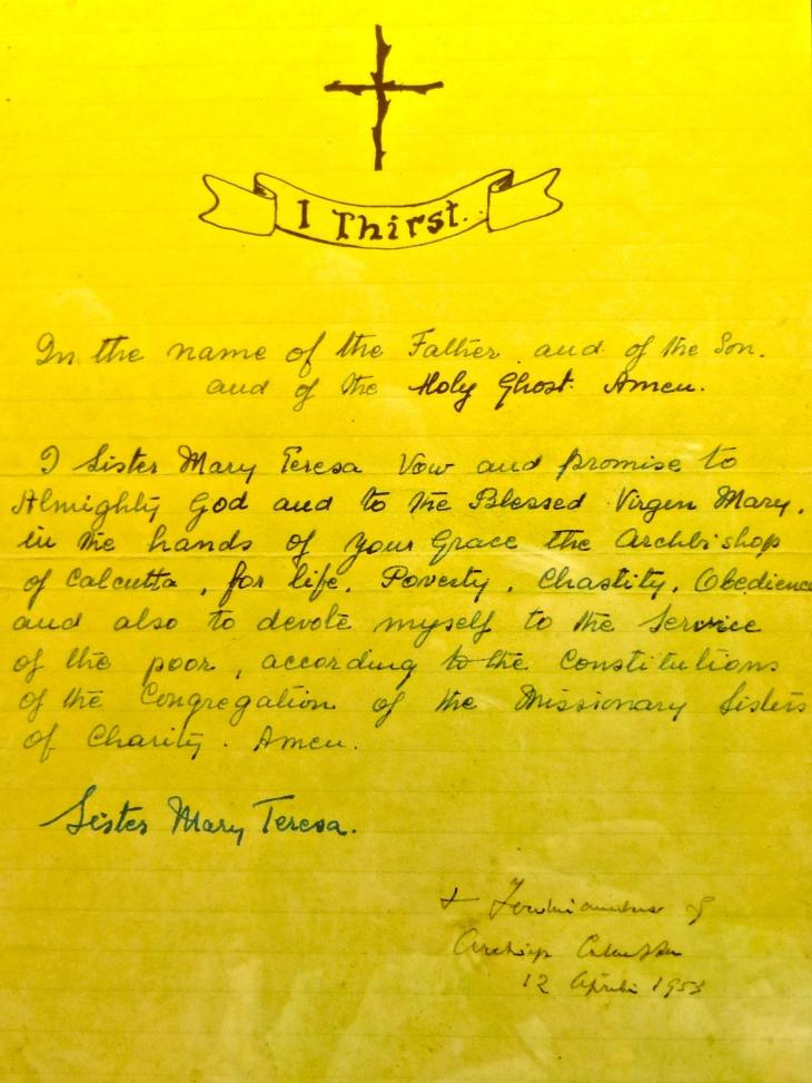 Mother Teresa's Letter