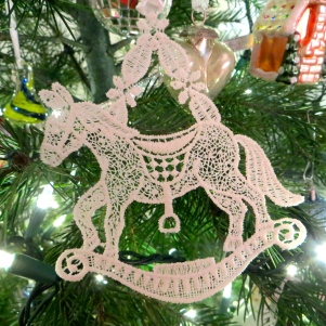 German Lace Horse. We wandered the quaint village of Bacharach and found this beautiful lacy rocking horse.