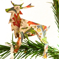 Italian Reindeer. Florence is the home of some of the most spectacular stationery on earth. This little, folded paper reindeer is a testimony to their skill.