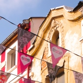 Heart Banners in Plovdiv, Bulgaria