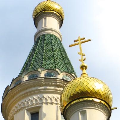 Orthodox Church in Sofia, Bulgaria. Can you spot the upside-down hearts?
