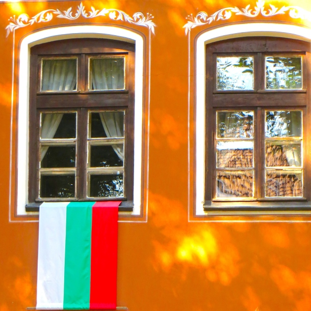Window w Bulgarian Flag