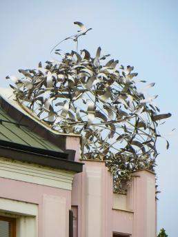 Flight of birds sculpture