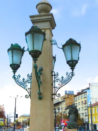 Sofia's orrnate lamp posts