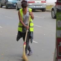 Somber street sweeper