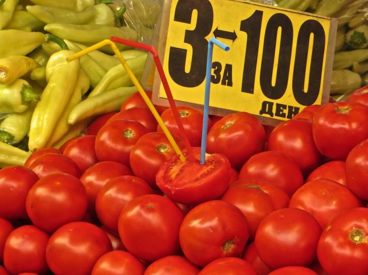 Tomato with Straws