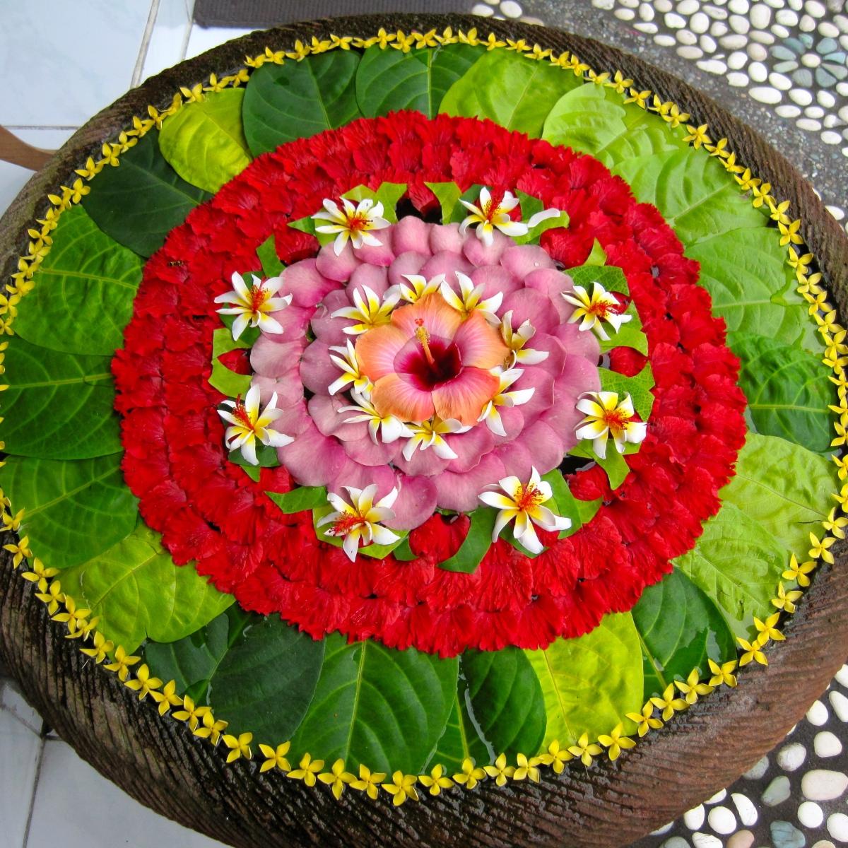 Bali's Exotic Flower Mandalas
