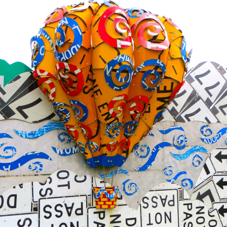 License plate balloon