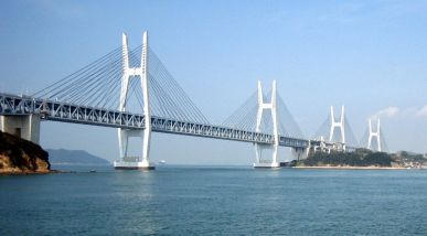 Seto Bridge in Japan