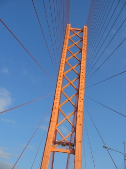 Surgut Bridge in Russia