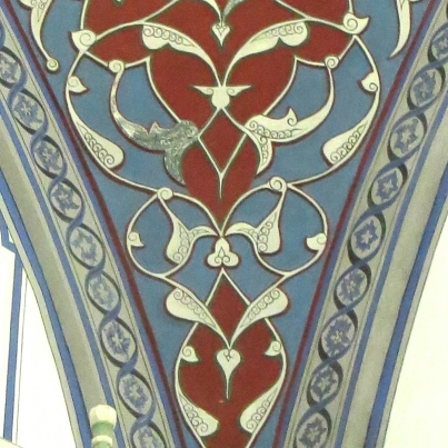 1. Hearts on the ceiling of the Mustafa Pasha Mosque, Skopje, Macedonia.