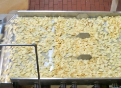 3. Begin cooking the chips.