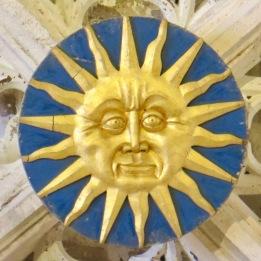 Sun ceiling boss