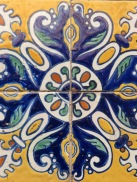 Blue yellow Tile