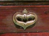 Heart-shaped drawer pull. Glasgow, Scotland