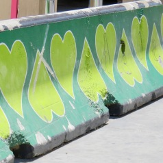 Heart-ful Construction barrier. Las Vegas, Nevada USA