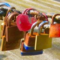 Locks of Love. Liverpool Docks, England