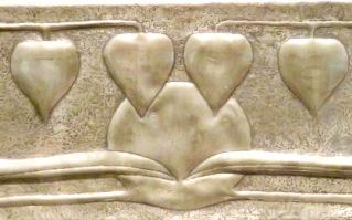 Hearts designed by Charles Rene Mackintosh in Glasgow, Scotland