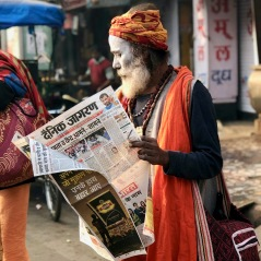 Man Reading Newspaper 2