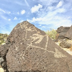 Arrows in Petroglyph National Monument, Albuquerque, New Mexico's West Mesa