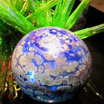 Chihuly blue ball