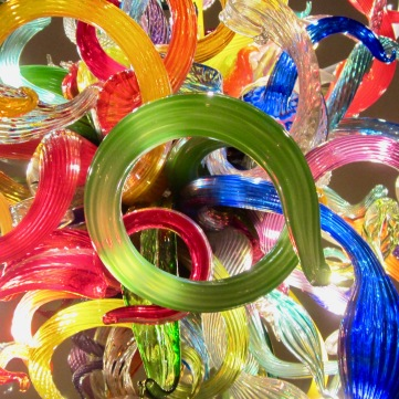 Chihuly multicolored chandelier 4