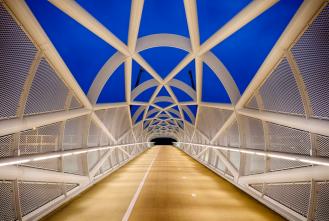 Bicycle bridge linking Rotterdam South with Rhoon